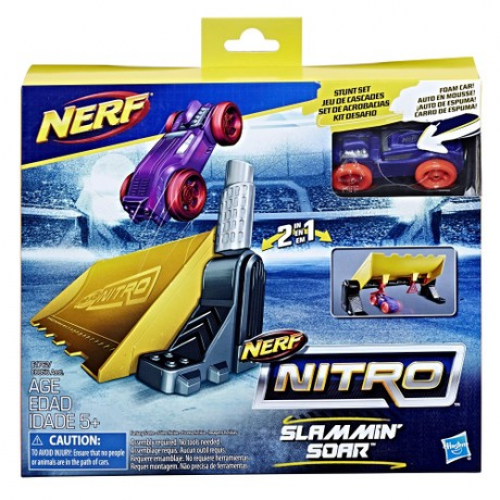 NERF Nitro Double Action Stunt Foam Mašīnu Komplekts (Jauna)