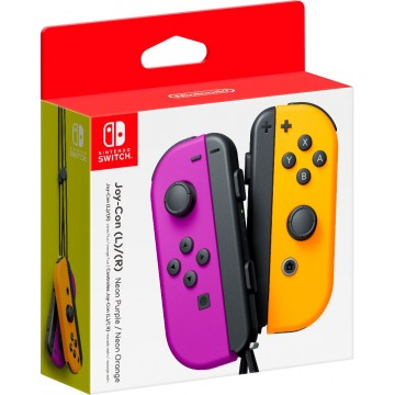 Nintendo Switch Joy Con Pair Neon Purple/Neon Orange (Jauns)