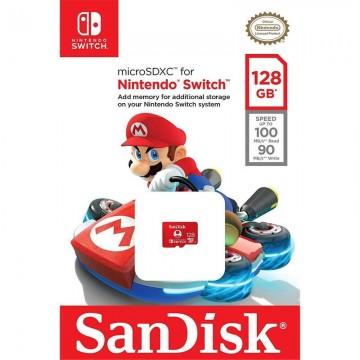 Sandisk Micro SDXC Card for Nintendo Switch 128GB Super Mario Kart (Jauna)