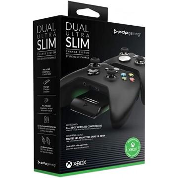 Oficiāli Licencēts Xbox One/Xbox Series PDP Ultra Slim Duālais Lādēšanas Doks un Divas Baterijas Melns (Jauns)