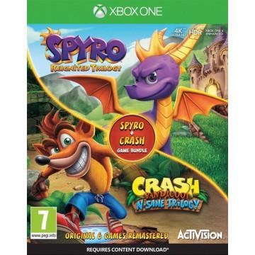 Crash Bandicoot N. Sane Trilogy un Spyro Reignited Trilogy Dubult Paka (Jauna)