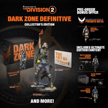 Xbox One Tom Clancy's The Division 2 Dark Zone Collector's Edition (Jauna)